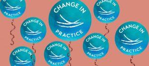 Change in Practice birthday balloons